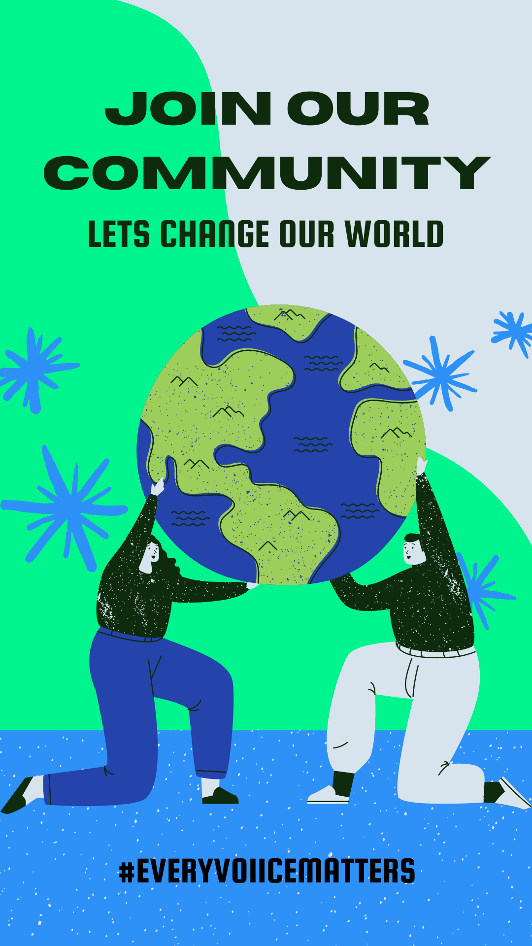 Colorful Illustration Earth Hour Instagram Story